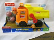 Fisher Price Little People Work Together Dump Truck Construction Driver Boulders
