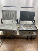 Silesia Commercial Contact Grill Panini Press Velox Cg-2 Griddle Flat 240v