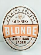 Guinness Blonde American Lager Tin Sign Guinness Co Usa Made New Never Displayed
