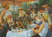 Famous Paintings The Luncheon Of The Boating Party Renoir 129x 172 Cm Artist Oil