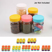 24 Pcs Colored Plastic Mason Jar Lids For Wide Mouth Mason Canning Jars And Cups