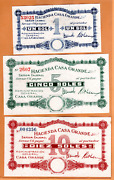 Peru Not Listed Private Issue Of Casa Grande. Three Different Values All Unc