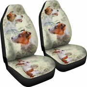 Jack Russell Terrier Dog Car - Set Of 2 Universal Front Seat Covers Protection