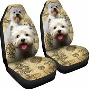 West Highland White Terrier Do - Set Of 2 Universal Front Seat Covers Protection