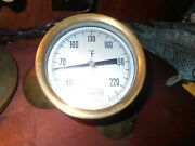 Up-cycled Antique Princo Thermometer And Brass Coolidge B78932 10 Propeller