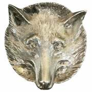 Very Rare 1964 Asprey London Solid Sterling Silver Pin Tray Of A Foxes Head