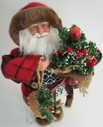 Woodsman Outdoors Santa Claus Christmas 15 Inch Woodsy Rustic Primitive Decorate