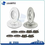 Front Rear Discs Brake Rotor And Ceramic Pads For Honda Accord Coupe 2014 Drill