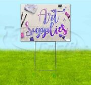 Art Supplies 18x24 Yard Sign With Stake Corrugated Bandit Usa School