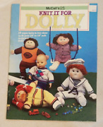 1985 Knit It For Dolly Craft Book 10 Knits 2 Sz 16-19 Soft Sculpture Dolls