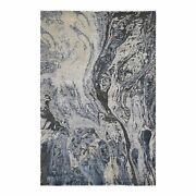 6and039x9and0392 Ivory Abstract Design Wool And Pure Silk Handknotted Oriental Rug G47783
