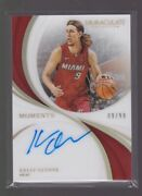 2018-19 Panini Immaculate Kelly Olynyk Moments Auto 09/99 Jersey D Autograph