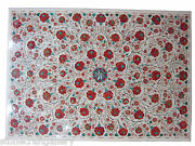 48 X 32 Marble Center Dining Table Top Carnelian Inlay Art For Home Decor