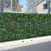 4 Ft Faux Ivy Leaf Artificial Hedge Fencing Privacy Fence Screen Decorative