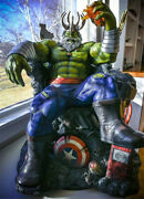 1/4 Hulk On Throne Statue Resin Model Kits Gk Collections Figure Gifts