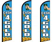 Cash 4 Gold Windless King Size Flag Pack Of 3 Hardware Not Included