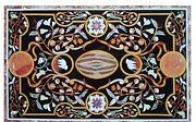 48 X 32 Marble Dining Center Table Top Pietra Dura Inlay Art For Home Decor