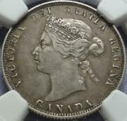 1875-h Canada Rare Key Date 25andcent Graded Ngc Vf35 Heaton Mint Fill That Hole