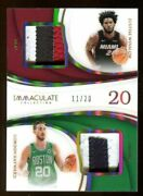 Gordon Hayward/justise Winslow 2018-19 Immaculate Dual Patch Jersey Number 11/20