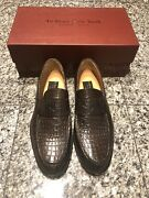 To Boot New York Adam Derrick Brown Crocodile Men's Loafers Shoes