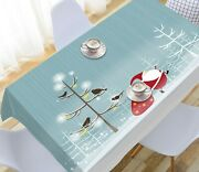 3d Magpie Tree Bra O143 Christmas Tablecloth Table Cover Cloth Birthday Party An
