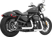 Freedom Exhaust System Staggered Duals Chrome/black Harley-davidson Hd00382