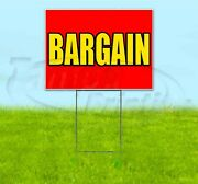 Bargain 18x24 Yard Sign With Stake Corrugated Bandit Business Dealership