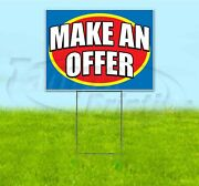 Make An Offer 18x24 Yard Sign With Stake Corrugated Bandit Business Dealership