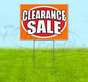 Clearance Sale 18x24 Yard Sign With Stake Corrugated Bandit Business Dealership