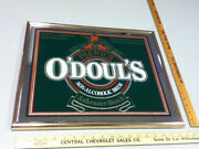 O'doul's Budweiser N/a Beer Sign Bar Vintage Mirror Anheuser-busch Brewery Wt9