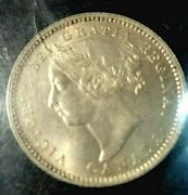 1888 Dime Canada 10 Cent Coin Iccs Ms-64