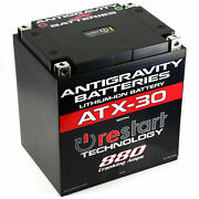 Antigravity Re Start Lithium Ion Motorcycle Battery Bms 880 Cca 30ah Ag-atx30-rs