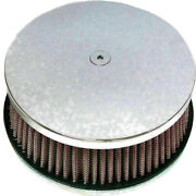 Harddrive Retro Drilled Round Air Cleaner Filter 5 7/8 For Harley Chrome 120301