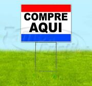 Compre Aqui 18x24 Yard Sign With Stake Corrugated Bandit Usa Business Spanish