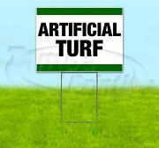 Artificial Turf 18x24 Yard Sign With Stake Corrugated Bandit Business Landscape