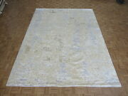 9 X 11and03911 Hand Knotted Fine Modern Abstract Oriental Rug With Silk G8199