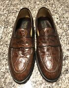 To Boot New York Adam Derrick Brown Crocodile Menandrsquos Loafers Shoes