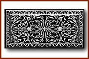 48 X 24 Marble Coffee Black Table Top Inlay Handicraft Work For Home Decor