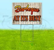 Barbecue At Its Best 18x24 Yard Sign With Stake Corrugated Bandit Business Bbq