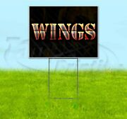Wings 18x24 Yard Sign With Stake Corrugated Bandit Usa Business Grill
