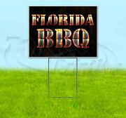 Florida Bbq 18x24 Yard Sign With Stake Corrugated Bandit Usa Business Grill