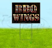 Bbq Wings 18x24 Yard Sign With Stake Corrugated Bandit Usa Business Grill