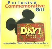 2003 Disney Visa Card Day 1 Pin Exclusive Commemorative Gift Charter Cardmembers