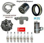 Tune Up Kit Air Oil Fuel Filter Wire Plugs For Dodge D150 V8 5.9l 16 Mm 1989