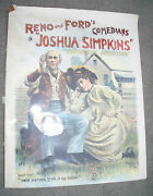 Original Old Paper Poster Advertising Sign Uncle Josh Comedy Performance