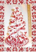 New 8lighted 112 White Candy-cane Dollhouse Miniature Christmas Tree+ornaments