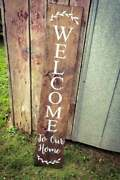 Farmhouse Welcome To Our Home Sign - Entryway Decor, Asst Size Colors
