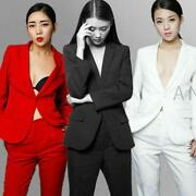 Women's Ladies Custom Made Business Office Tuxedos Jacket Pants Fashion Suits