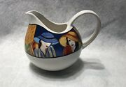 Cafe By Furio Ceramic Creamer Bowl Women In Hats 4914-12
