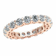 Diamond 3.00ct Open Gallery Shared Prong Wedding Band Eternity Ring 18k Gold